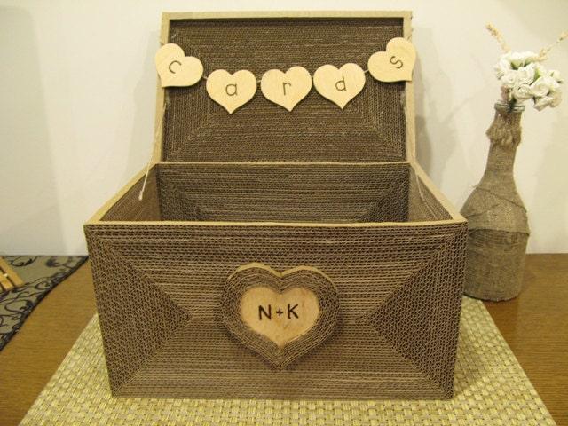 Personalized Large Shabby Chic wedding card box money box gift card holder