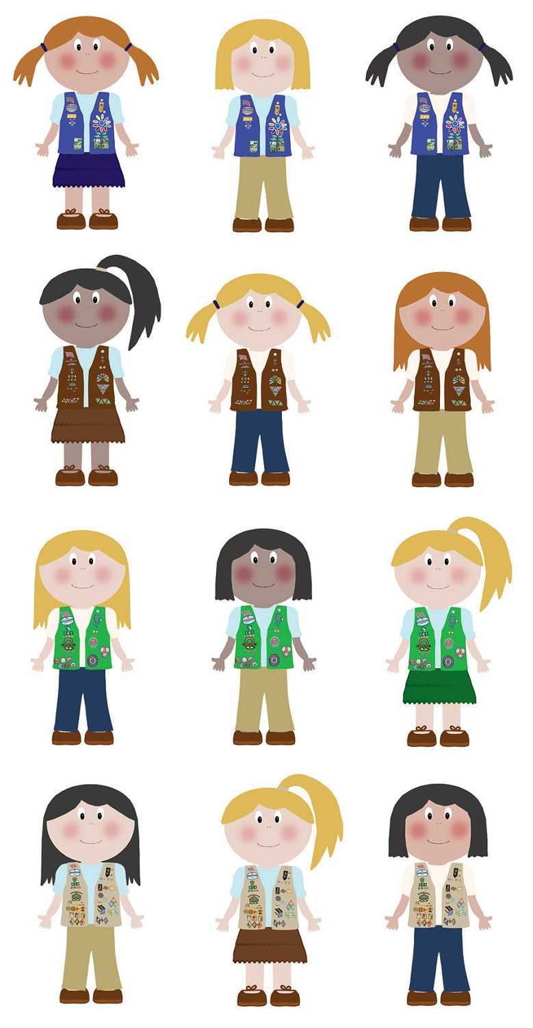 Girl Scout Cookie Nail Art: Girl Scout Clip Art
